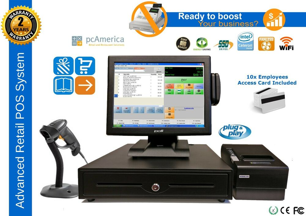 Liquor Store Complete Pos System With Pc America Cash