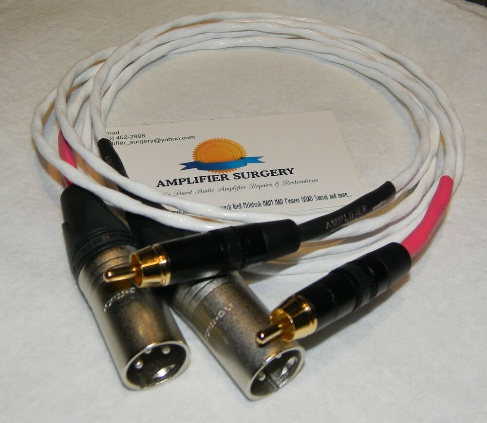 6ft rca to balanced male xlr silver plated audio interconnect signal cable usa ebay. Black Bedroom Furniture Sets. Home Design Ideas