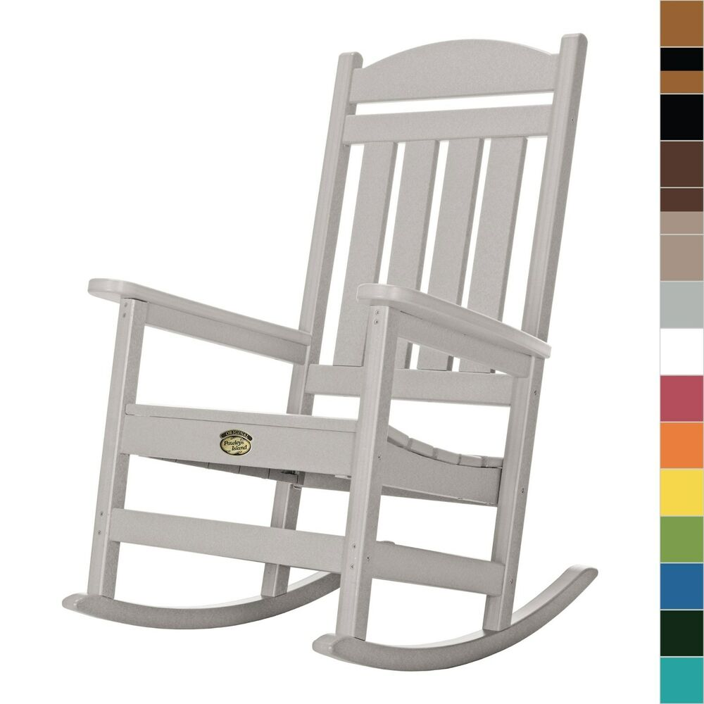 Pawleys Island Porch Rocker Rocking Chair Poly Durawood Outdoor Furniture Ebay