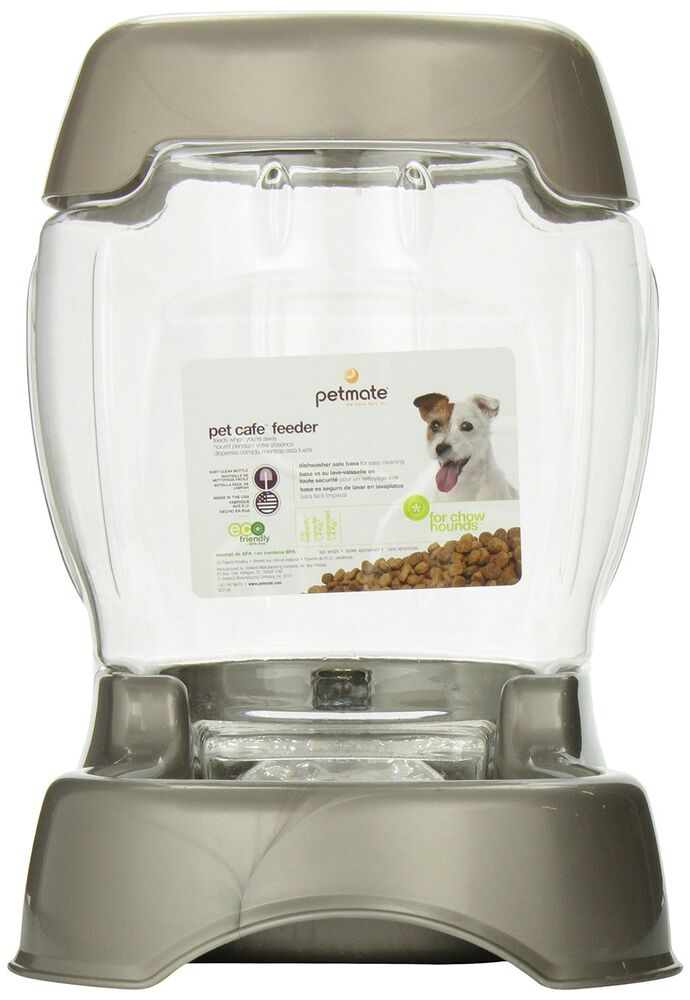 Automatic Pet Food Dispenser Dog Cat Feeder Water Bowl