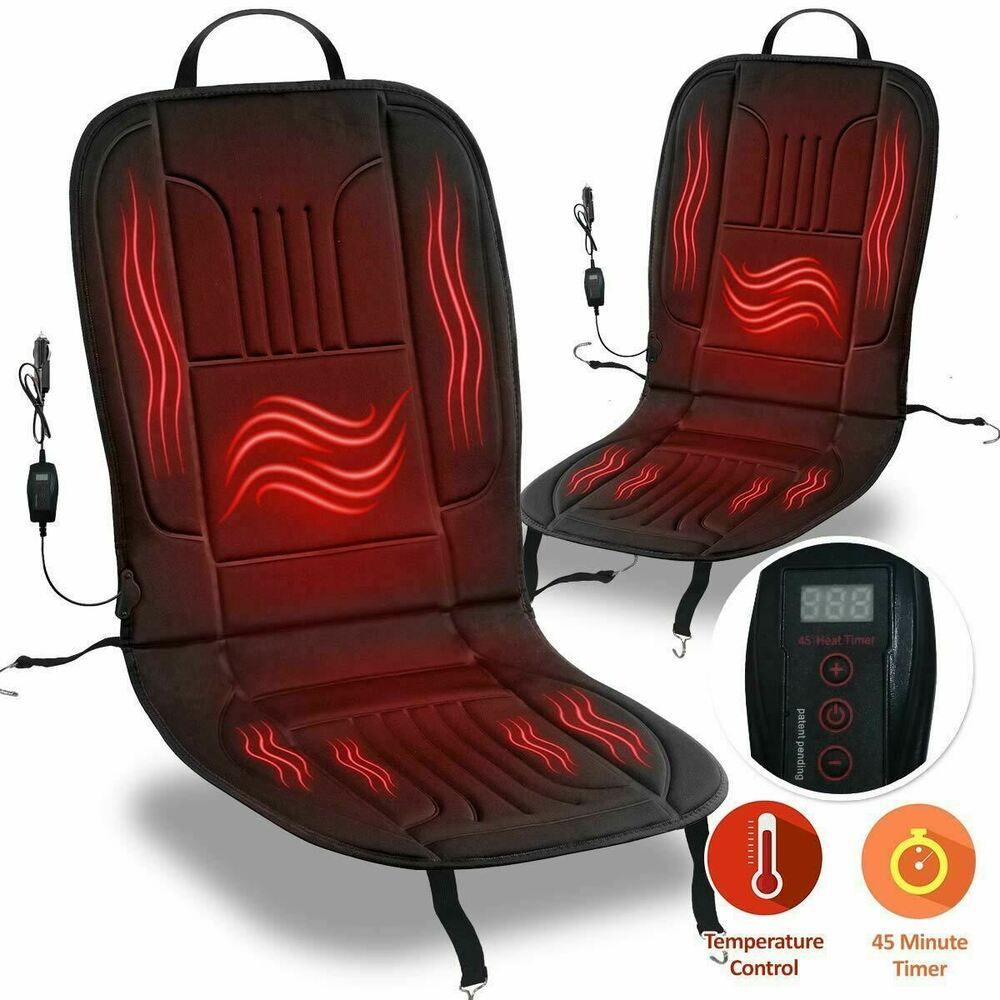 zone tech 2x thickening heated car seat heater heated cushion warmer ebay. Black Bedroom Furniture Sets. Home Design Ideas