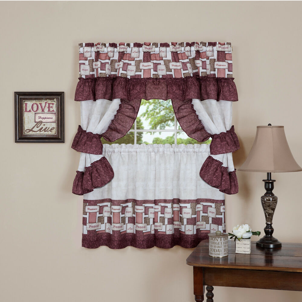 Inspiration™ Complete Cottage Kitchen Curtain Set By