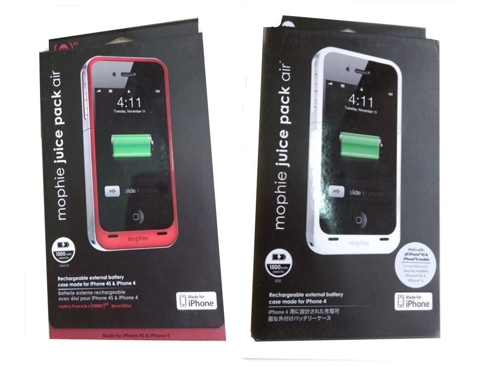 mophie iphone 4 new mophie 1500mah iphone 4 4s juice pack air rechargeable 12649