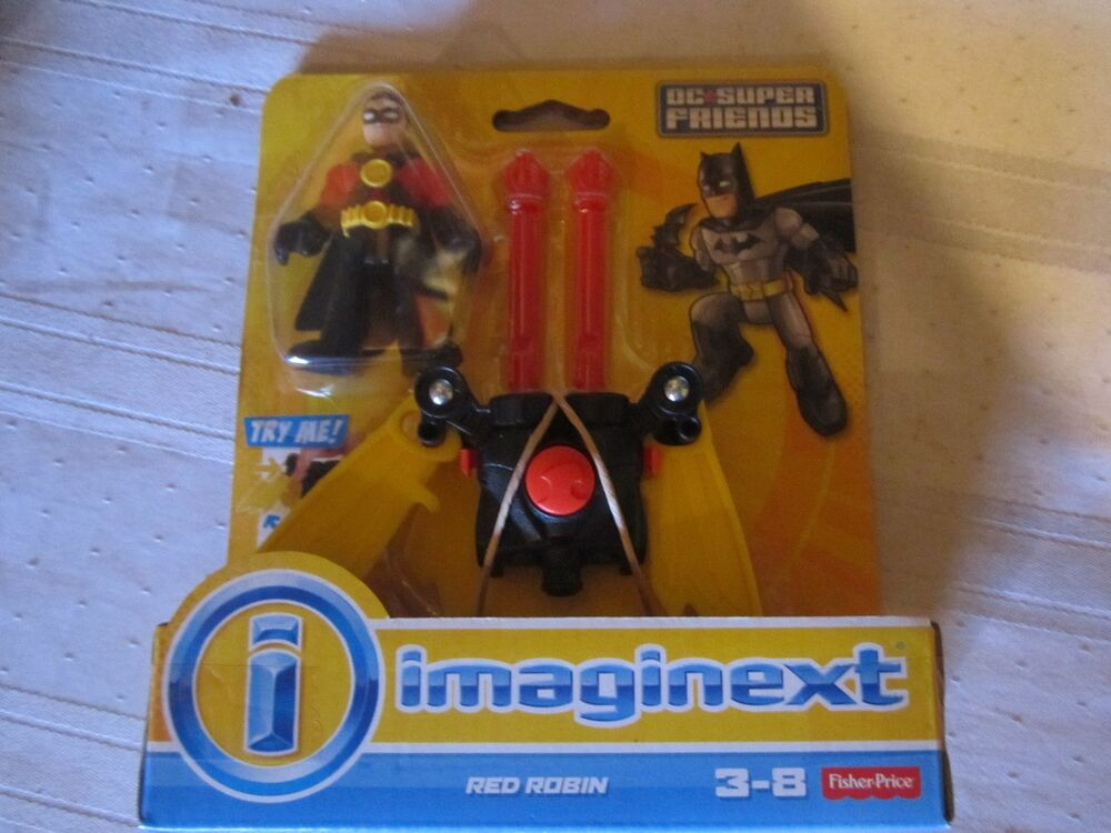 Fisher Price Imaginext Dc Super Friends Red Robin Boy New