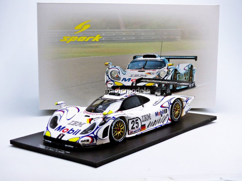 spark porsche 911 gt1 le mans 1998 muller alzen wollek 25 1 18 new in st. Black Bedroom Furniture Sets. Home Design Ideas