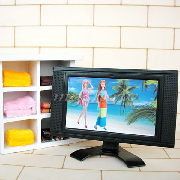 dollhouse furniture television miniature lcd tv set for