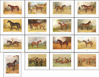 RACEHORSES - 10  SETS OF  16  RACE  HORSES  OF  VANITY  FAIR  -  (REPRODUCTIONS)