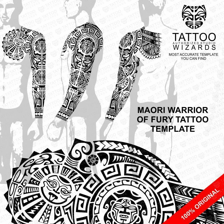 Maori Warrior Tattoos: Sacred Maori Polynesian WARRIOR Of FURY TATTOO Stencil