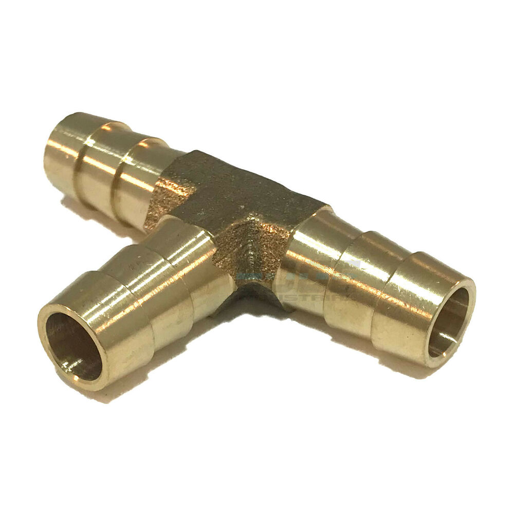 Brass pipe t fitting shape water fuel