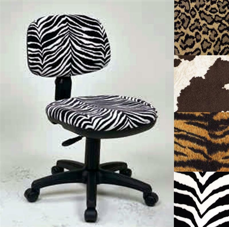 New Zebra Or Palomino Fabric Animal Print Home Office Desk Computer Task Chairs Ebay