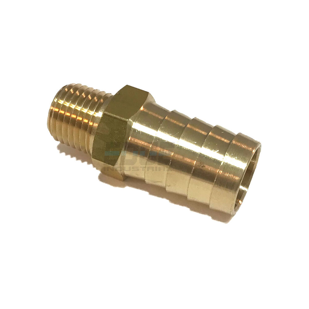 Hose barb male npt brass pipe fitting thread