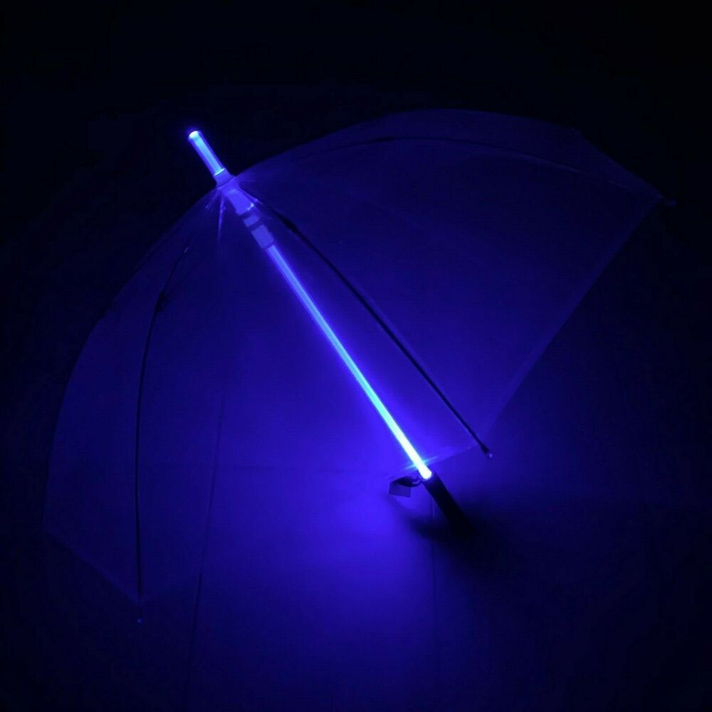 blade runner 6 color light saber star wars led transparent umbrella flashlight ebay. Black Bedroom Furniture Sets. Home Design Ideas