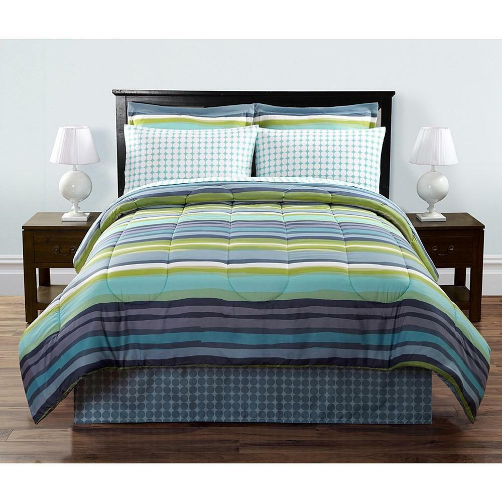 complete bed sets colormate complete hayden striped king size 8 11182