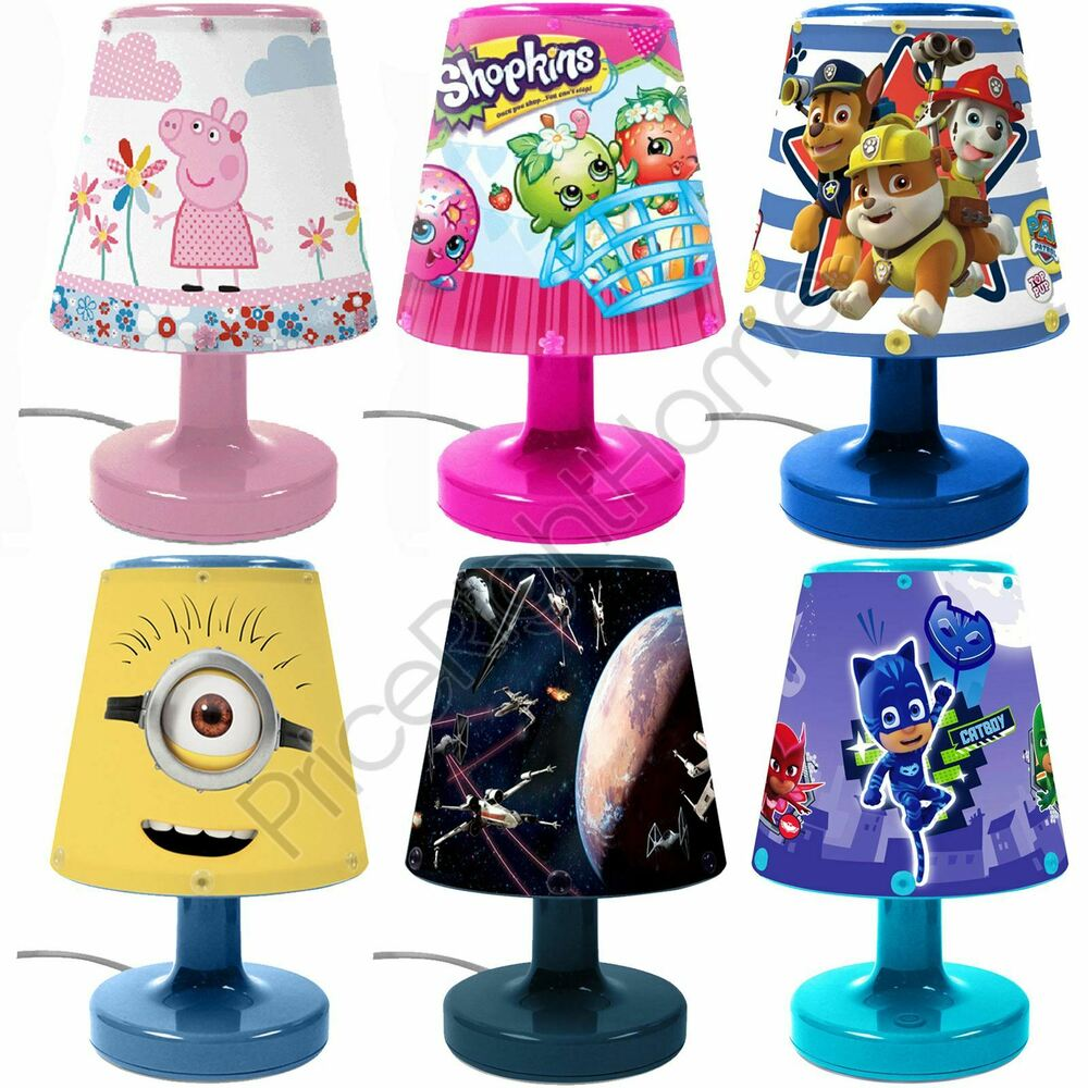 childrens bedroom lamps disney amp character bedroom bedside lamps for boys and 11099