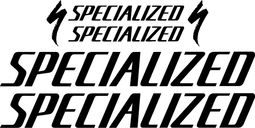 Specialized Bicycle Decal Set Mtb Road Gloss Black Ebay