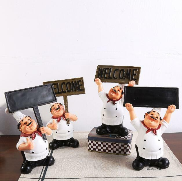 Home kitchen chef ornament figurine statue table decor