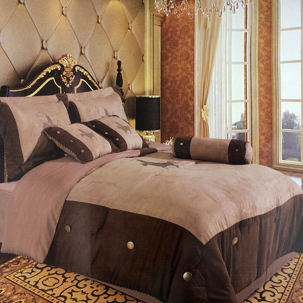 Embroidery Printed Texas Western Horse Luxury Comforter