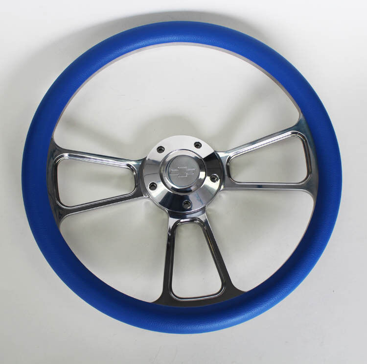 New Nova Chevelle Steering Wheel Sky Blue Billet 14 Quot Chevy