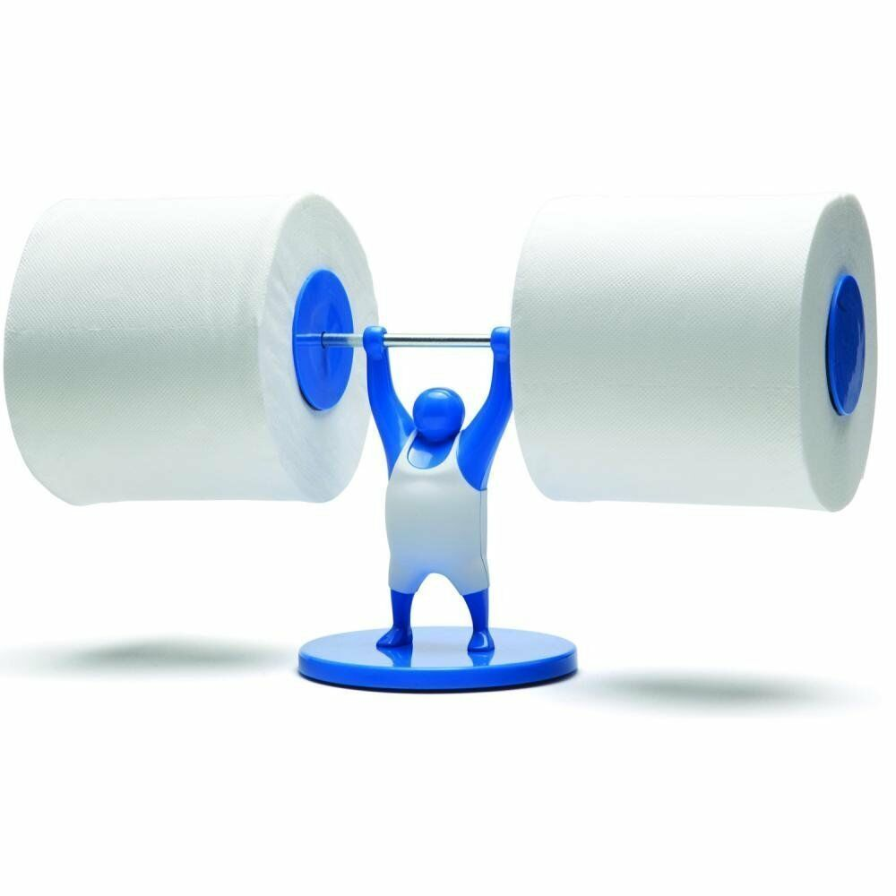 Mr t weightlifter bathroom toilet paper tissue roll holder blue monkey business ebay - Tissue holder bathroom ...