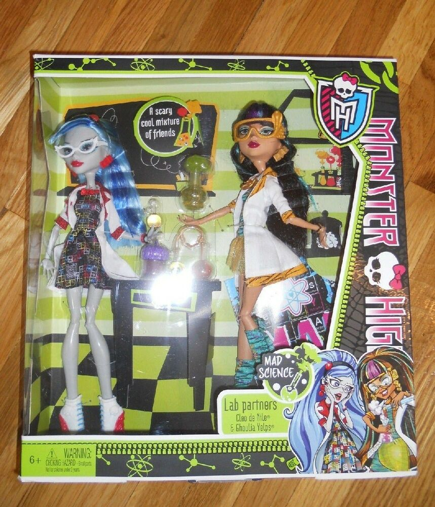 monster high lab partners mad science cleo de nile and