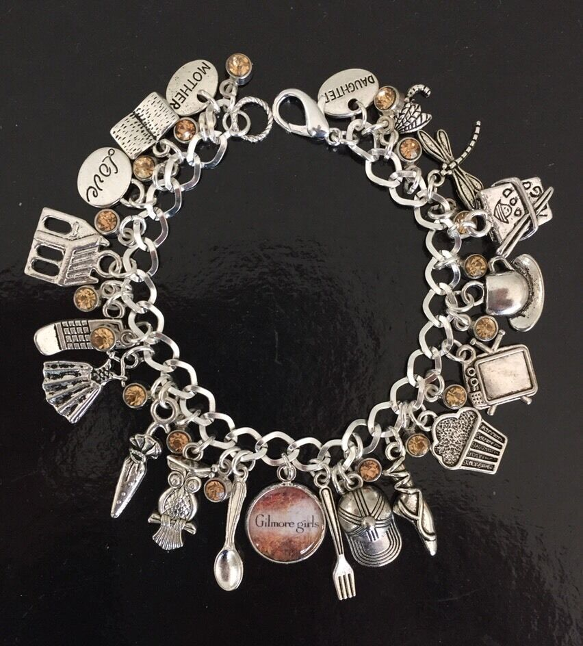Bracelet With Charms: Gilmore Girls Charm Bracelet, Stars Hollow, Lorelai, Rory