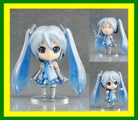 "【HOT】ANIME VOCALOID Nendoroid 97#Snow Hatsune Miku 4"" Figure Face Changable Gift"