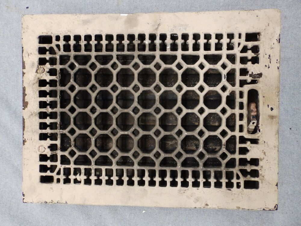 Antique Cast Iron Heat Grate Register Vent Old Honeycomb