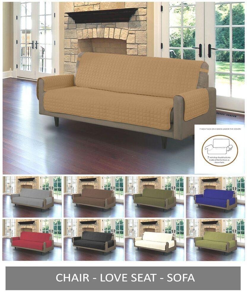 Quilted Microfiber Pet Dog Couch Sofa Furniture Protector