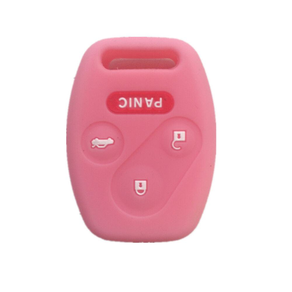 pink silicone keyless remote key fob case skin cover fit  honda  button ebay