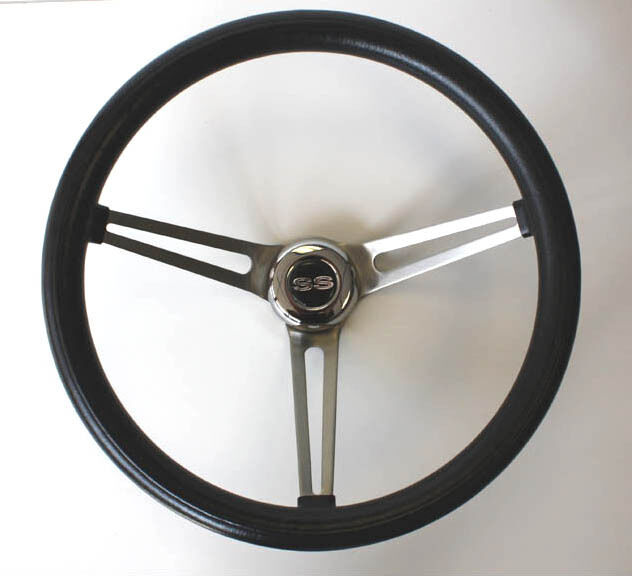 Chevelle Nova Ss Center Cap Classic Steering Wheel Black