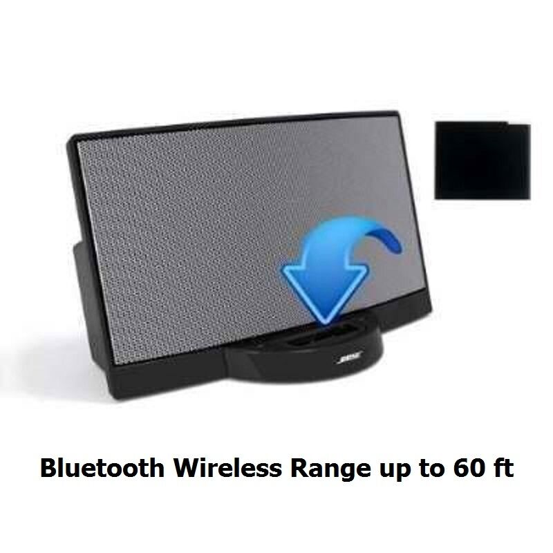 Bluetooth A2DP Music Receiver Adapter For IPod IPhone 30-Pin Dock Bose Speaker 726670486172