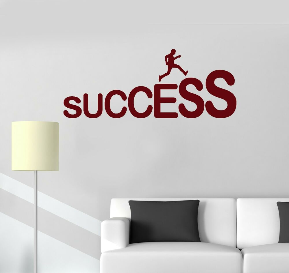 Wall quote stickers for office : Vinyl decal success motivation office quote wall stickers
