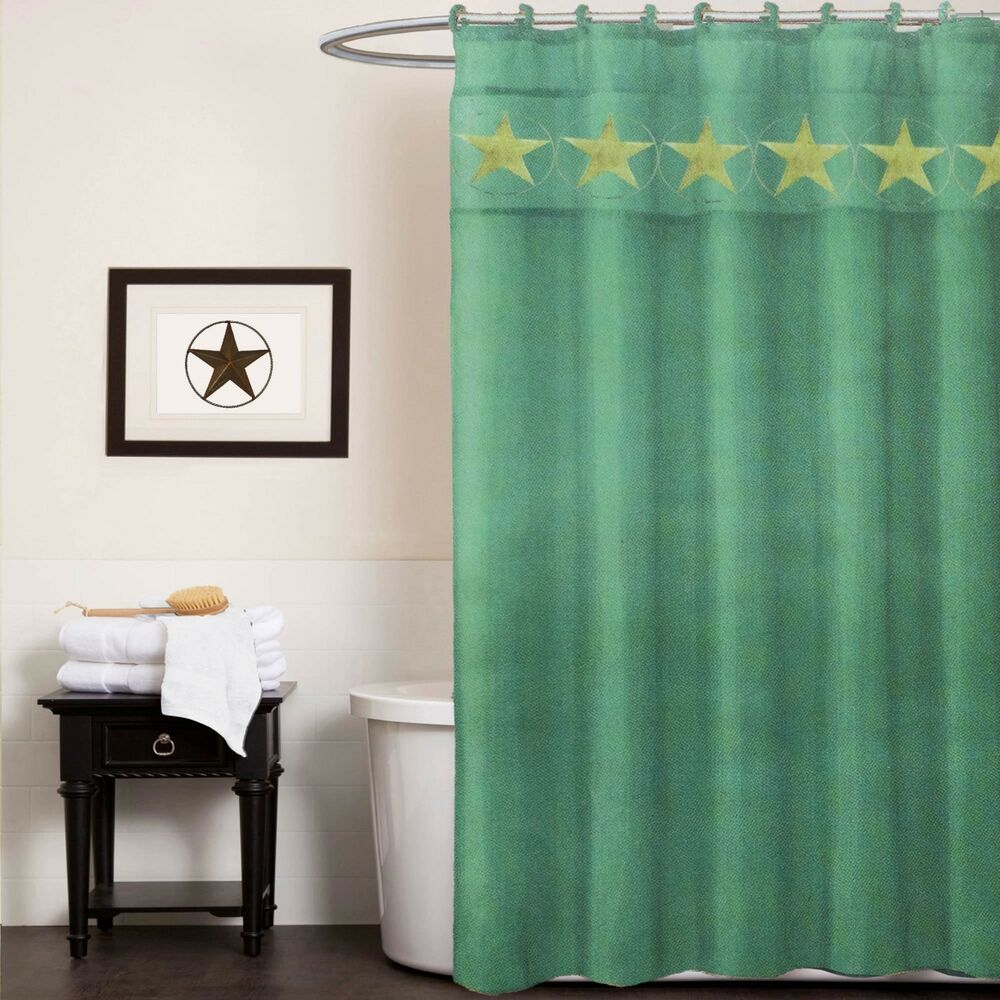 3 pcs western texas star bath set rug shower curtain contour ebay. Black Bedroom Furniture Sets. Home Design Ideas
