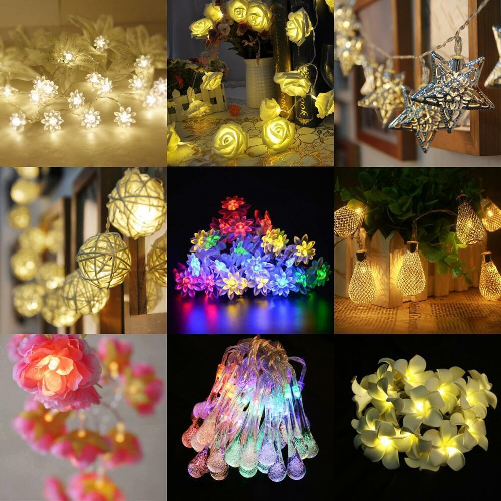 Wedding String Lights Diy : Battery Operate Wedding Party String Lamp Fairy Light Xmas Tree Diwali Decor DIY eBay