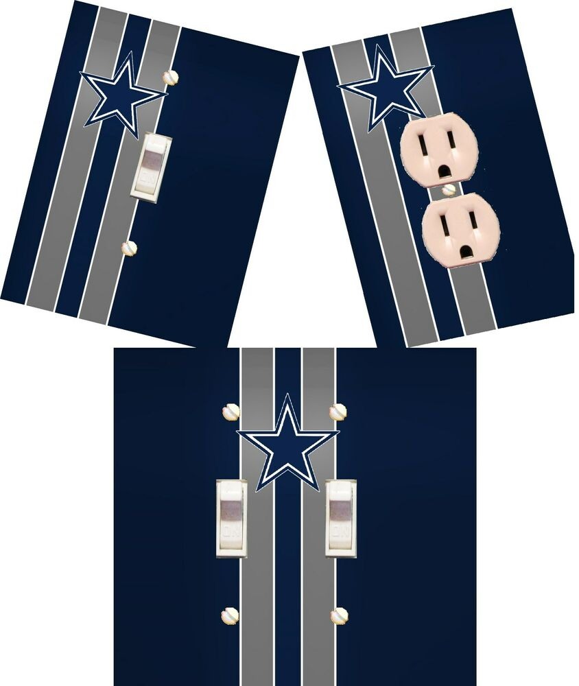 Dallas Cowboys Light Switch Wall Plate Custom Covers Man Cave Room Decor Ebay
