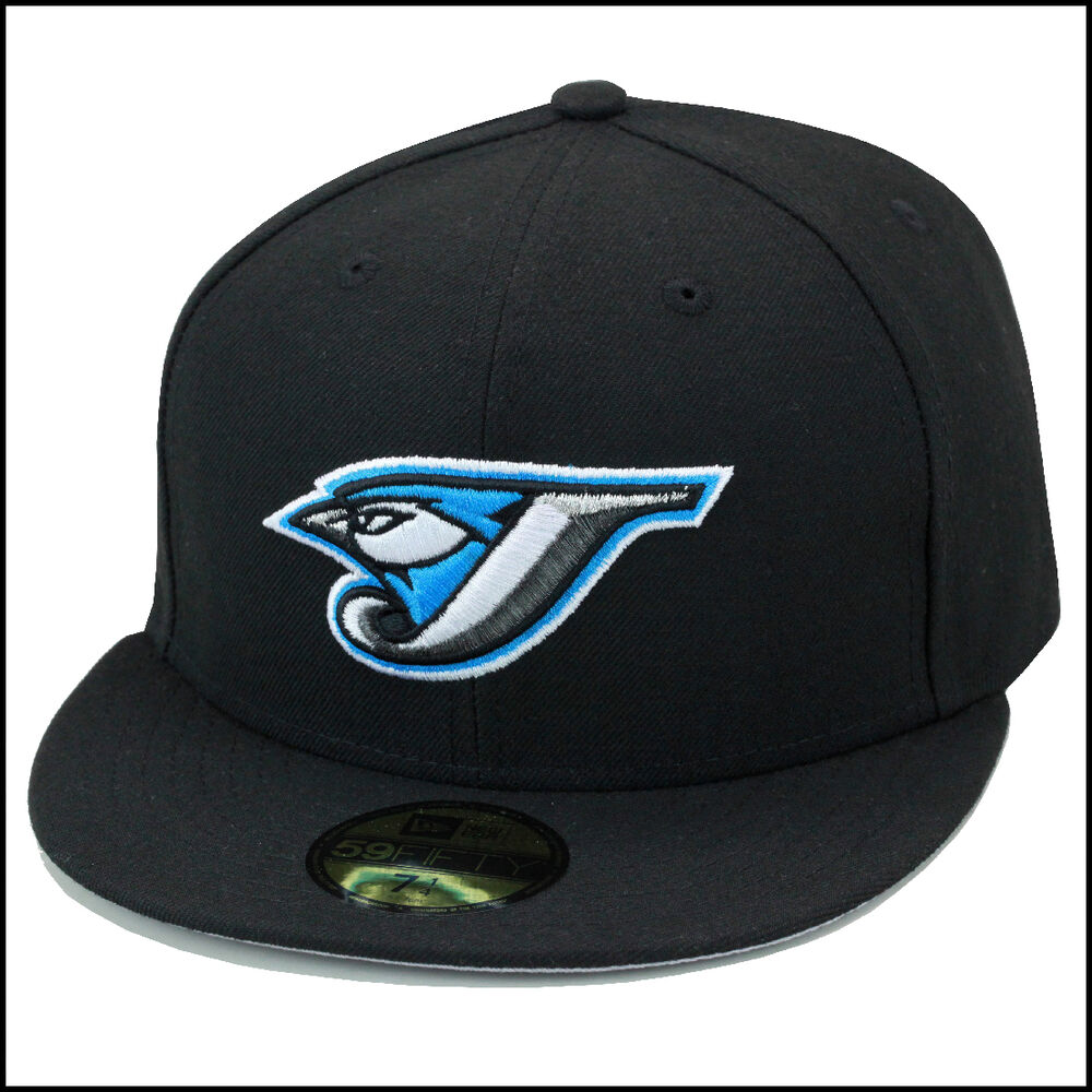 New Era Toronto Blue Jays Fitted Hat 2004 Road All Black
