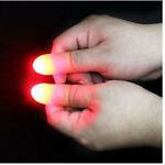 2pcs Funny Party Light Thumbs Fingers Trick Appearing Light Close Up