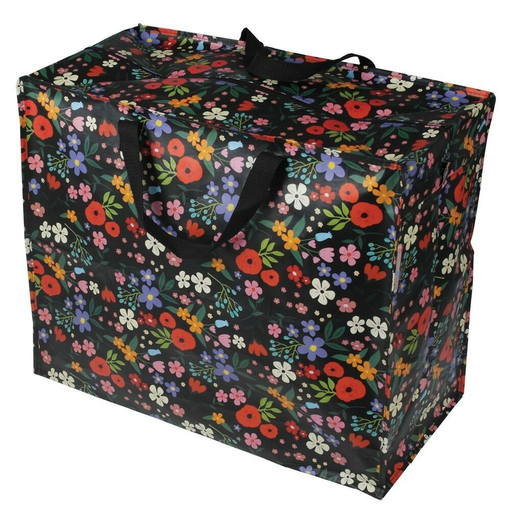 Dotcomgiftshop Jumbo Storage Midnight Garden Recycled Reusable Laundry Bag Ebay