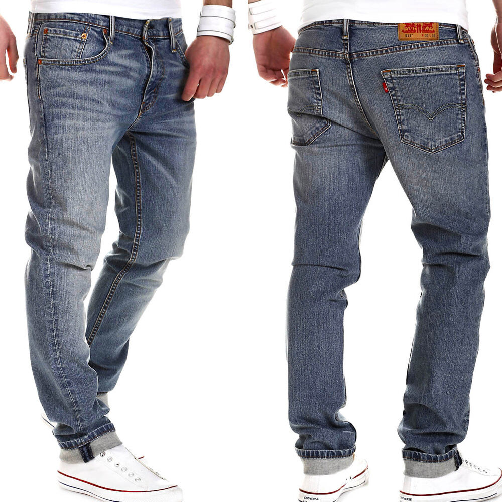 levi 39 s herren jeans 511 slim fit blau 1798 bear grass levis hellblau neu ebay. Black Bedroom Furniture Sets. Home Design Ideas