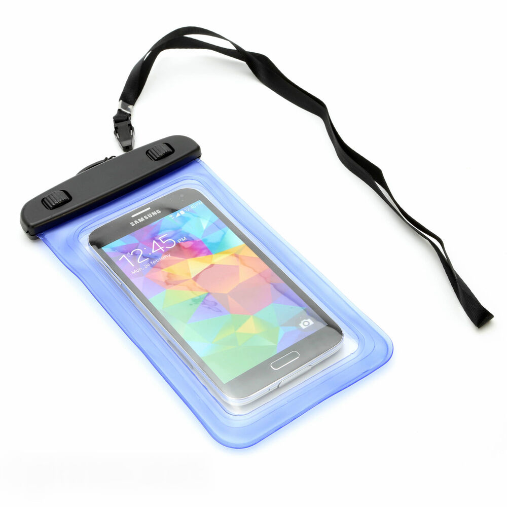 UNIVERSAL BLUE WATERPROOF HIKING POUCH CASE COVER FOR ...