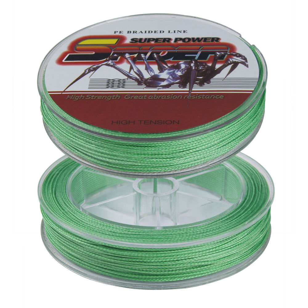 Spider 50m 250lb 300lb fluorescent green 100 pe dyneema for Fluorescent fishing line