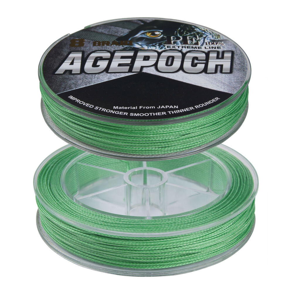 Agepoch 50m 250 300lb fluorescent green 100 pe dyneema for Fluorescent fishing line