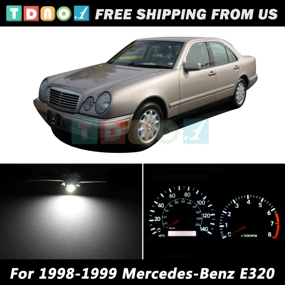 Led kit instrument cluster white lights bulbs for 1998 for Led light for mercedes benz