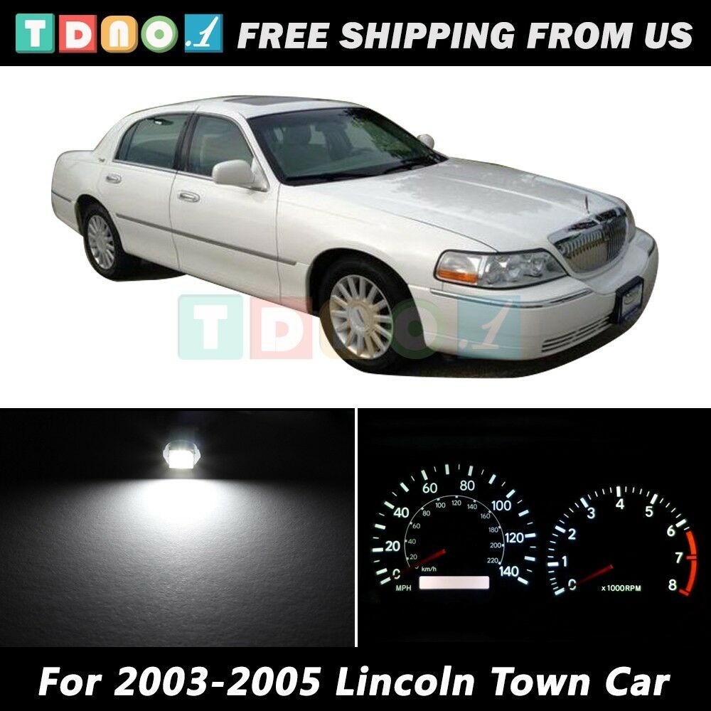 led kit instrument speedometer white lights bulbs for 2003 2005 lincoln town car ebay. Black Bedroom Furniture Sets. Home Design Ideas