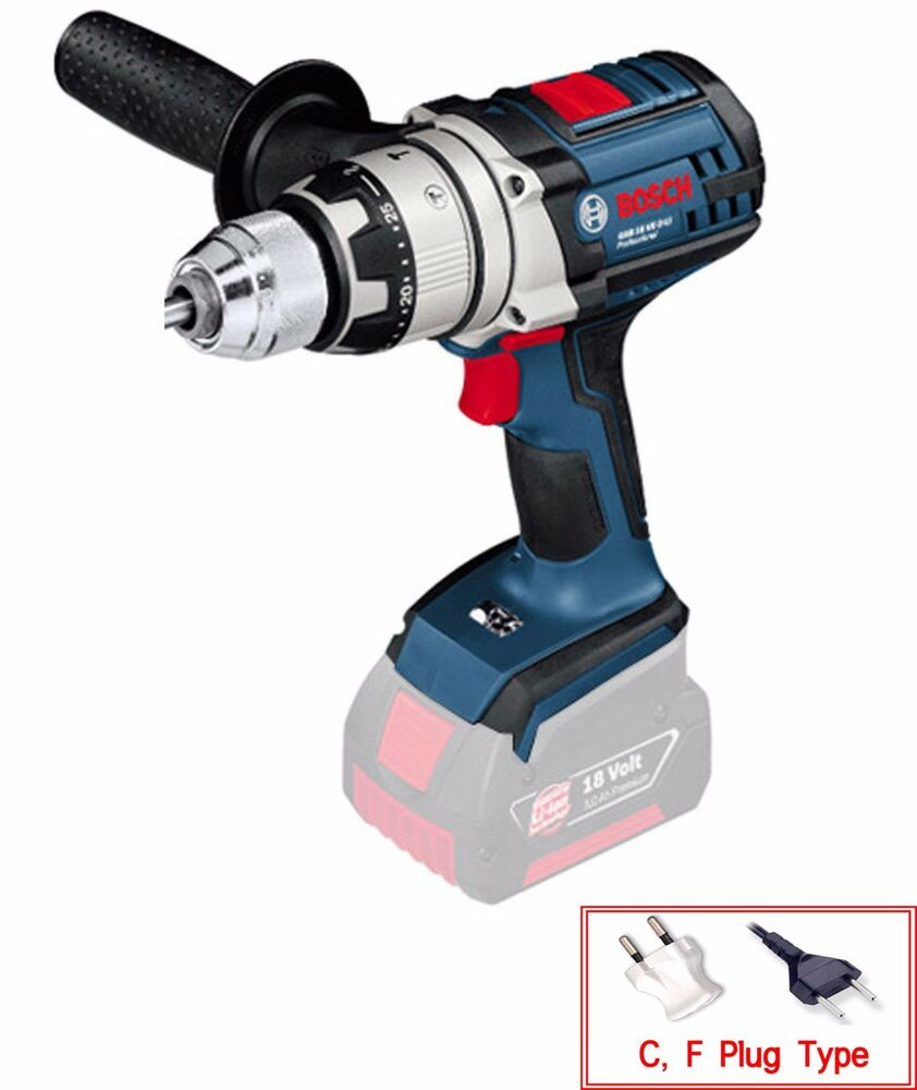 bosch gsb 18ve 2 li electric cordless hammer drill 18v robust series bare tool ebay. Black Bedroom Furniture Sets. Home Design Ideas