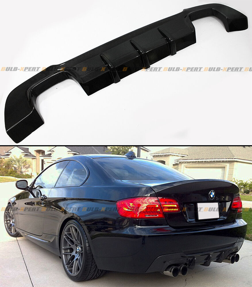 Bmw Performance Exhaust 335i: QUAD EXHAUST CARBON FIBER REAR DIFFUSER FOR 2007-13 BMW