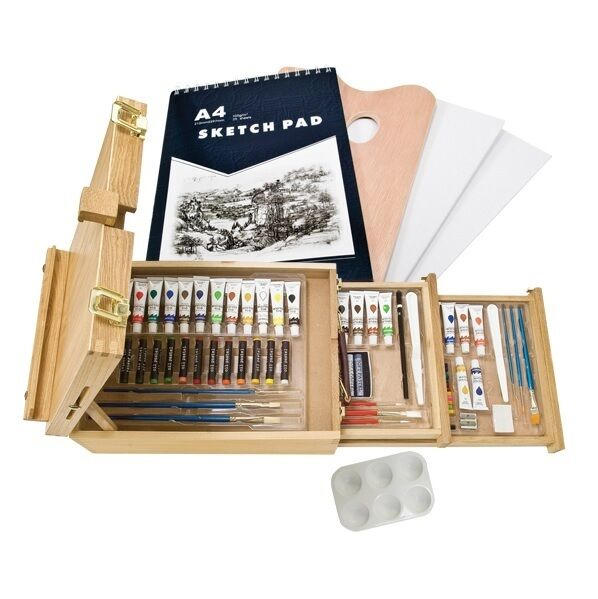 Artist case set oil color watercolor acrylic painting sketching drawing art kit ebay - Exterior painting quotes set ...