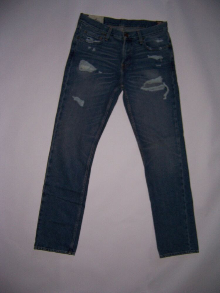 Hollister By Abercrombie Men S Destroyed Slim Straight
