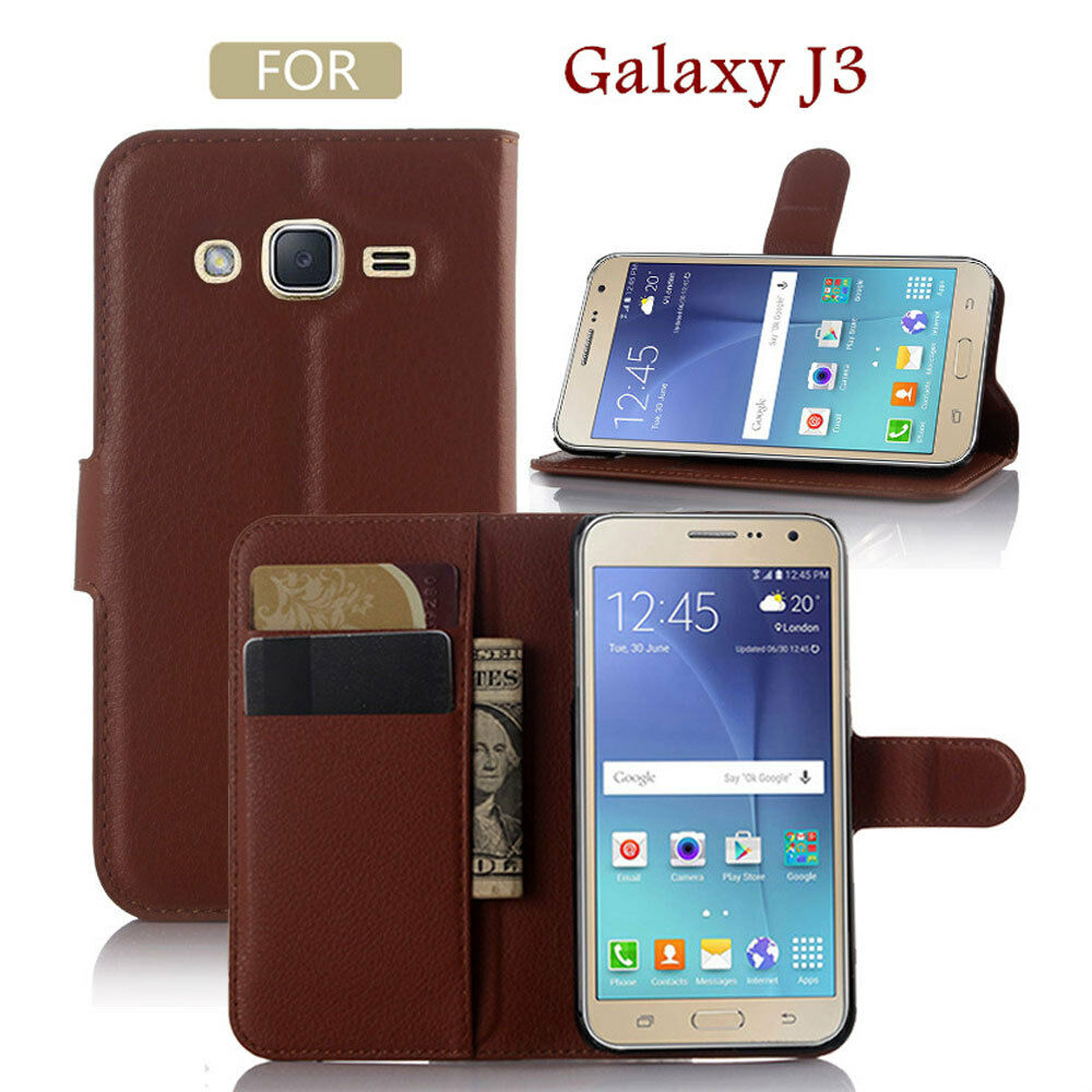 Case Design otter cell phone case : ... Leather Card Wallet Cover Flip Stand Case For SAMSUNG GALAXY J3 : eBay