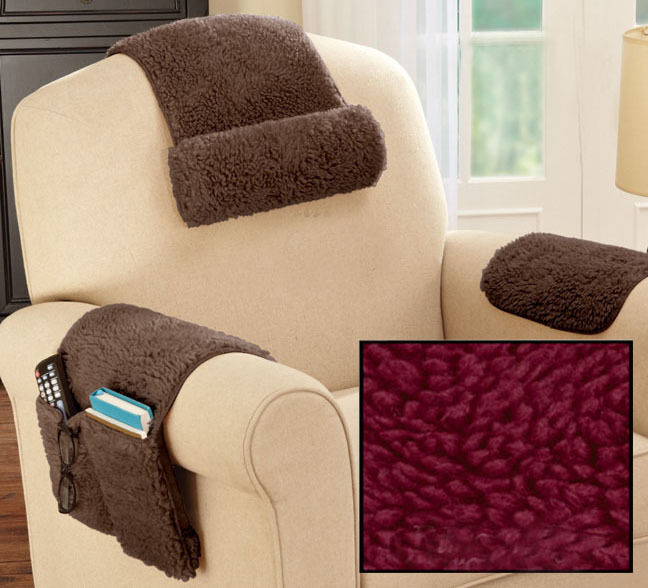 3 Piece Arm Rest Cover Protector Organizer Sofa Chair